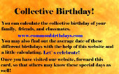 Calculate your Collective Birthday now!
